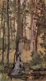 Giovanni Fattori - paintings - Dame im Wald