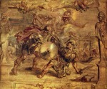 Peter Paul Rubens - paintings - Achilles besiegt Hektor