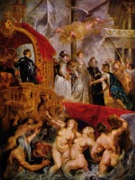 Peter Paul Rubens - paintings - The Landing of Marie de' Médici at Marseilles