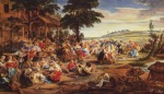 Peter Paul Rubens - paintings - The Village Fête