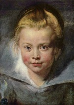 Peter Paul Rubens - paintings - Ein Kinderkopf (Portrait der Clara Serena Rubens)
