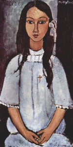 Amadeo Modigliani - Peintures - Alice