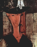 Amadeo Modigliani - paintings - Madam Pompadour (Portrait of Beatrice Hastings)