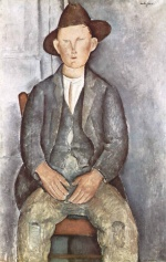 Amadeo Modigliani - paintings - The Little Peasant