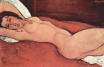 Amadeo Modigliani - Peintures - Nu allongé