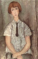 Amadeo Modigliani - paintings - Maedchen mit Bluse
