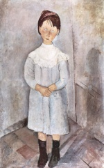 Amadeo Modigliani - paintings - Little Girl in Blue