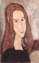 Amadeo Modigliani - paintings - Portrait of a Girl