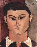 Amadeo Modigliani - paintings - Portrait of the Painter Moise Kisling