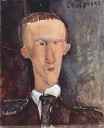 Amadeo Modigliani - paintings - Portrait of Blaise Cendrars