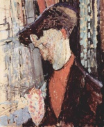Amadeo Modigliani - Peintures - Portrait de Frank Burty Haviland
