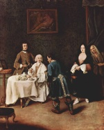 Pietro Longhi - paintings - Besuch bei einem Lord
