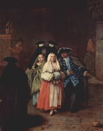 Pietro Longhi - paintings - The new World