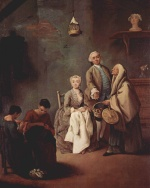 Pietro Longhi - paintings - The School of Work