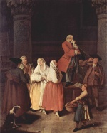 Pietro Longhi - paintings - The Shoothsayer