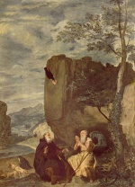 Diego Velázquez - paintings - St. Anthonie Abbot and St. Paul the Hermit