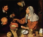 Diego Velázquez - paintings - Old Woman Poaching Eggs