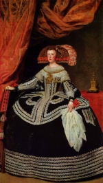 Diego Velázquez - paintings - Queen Dona Mariana of Austria