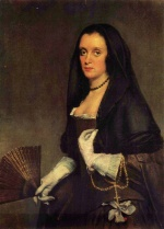 Diego Velázquez - paintings - Lady with a Fan