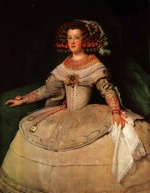 Diego Velázquez - paintings - Maria Teresa of Spain (with the two watches)