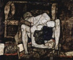 Egon Schiele - paintings - Bline Mutter (Die Mutter)