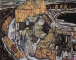 Egon Schiele - paintings - Der Haeuserbogen (Inselstadt)