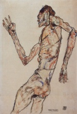 Egon Schiele - paintings - The Dancer