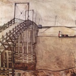 Egon Schiele - paintings - The Bridge