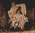 Egon Schiele - paintings - The Family