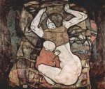 Egon Schiele - paintings - Junge Mutter