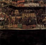 Egon Schiele - paintings - Kleinstadt