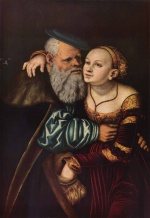 Lucas Cranach - paintings - Der verliebte Alte