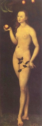 Lucas Cranach - paintings - Eva