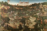 Lucas Cranach - paintings - Hunt in Honour of Charles V at the Castle of Torgau
