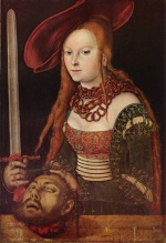 Lucas Cranach - paintings - Judith with Head of Holofernes