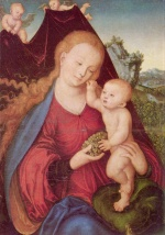 Lucas Cranach - paintings - Madonna and Child