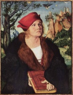 Lucas Cranach - paintings - Portrait of Dr. Johannes Cuspinian