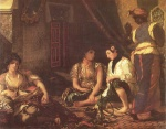 Eugene Delacroix - paintings - Women of Algiers in their Arpartment