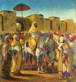 Eugene Delacroix - paintings - The Sultan  of Marocco and his Entourage