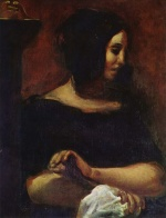 Eugene Delacroix - paintings - George Sand