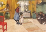 Carl Larsson - paintings - The Kitchen