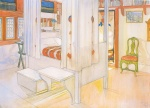 Carl Larsson - paintings - Mein Schlafzimmer
