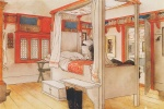 Carl Larsson - paintings - Papas Zimmer