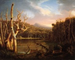 Thomas Cole - paintings - Lake with Death Trees