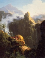 Thomas Cole - paintings - Landscape Composition Saint John in the Wilderness