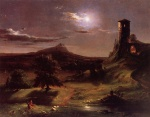 Thomas Cole - paintings - Mondlicht