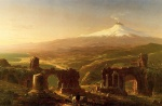 Thomas Cole - paintings - Mount Etna from Taormina
