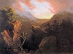 Thomas Cole - paintings - Mountain Sunrise Catskill