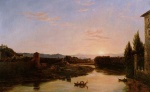 Thomas Cole - paintings - Sunrise of the Arno