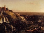 Thomas Cole - paintings - The Cascatelli Tivoli Looking Towards Rome